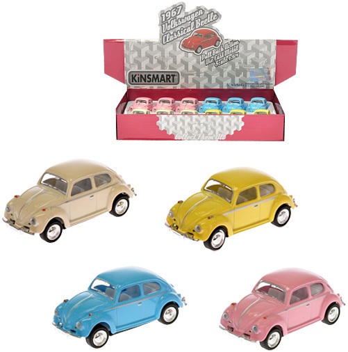 KINSMART Auto model 1:64 VW Classical Beetle 1967 6,5cm