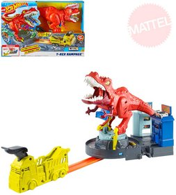 MATTEL HOT WHEELS City T-Rex řádí herní set s autíčkem na baterie