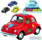 KINSMART Auto model 1:32 VW BEETLE HIPPIES kov PB 13cm 4 barvy